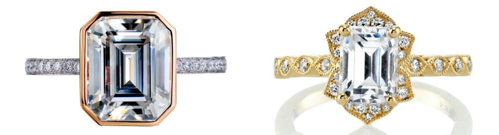 Two dreamy diamond engagement rings! One by Mark Patterson, one by Mars.