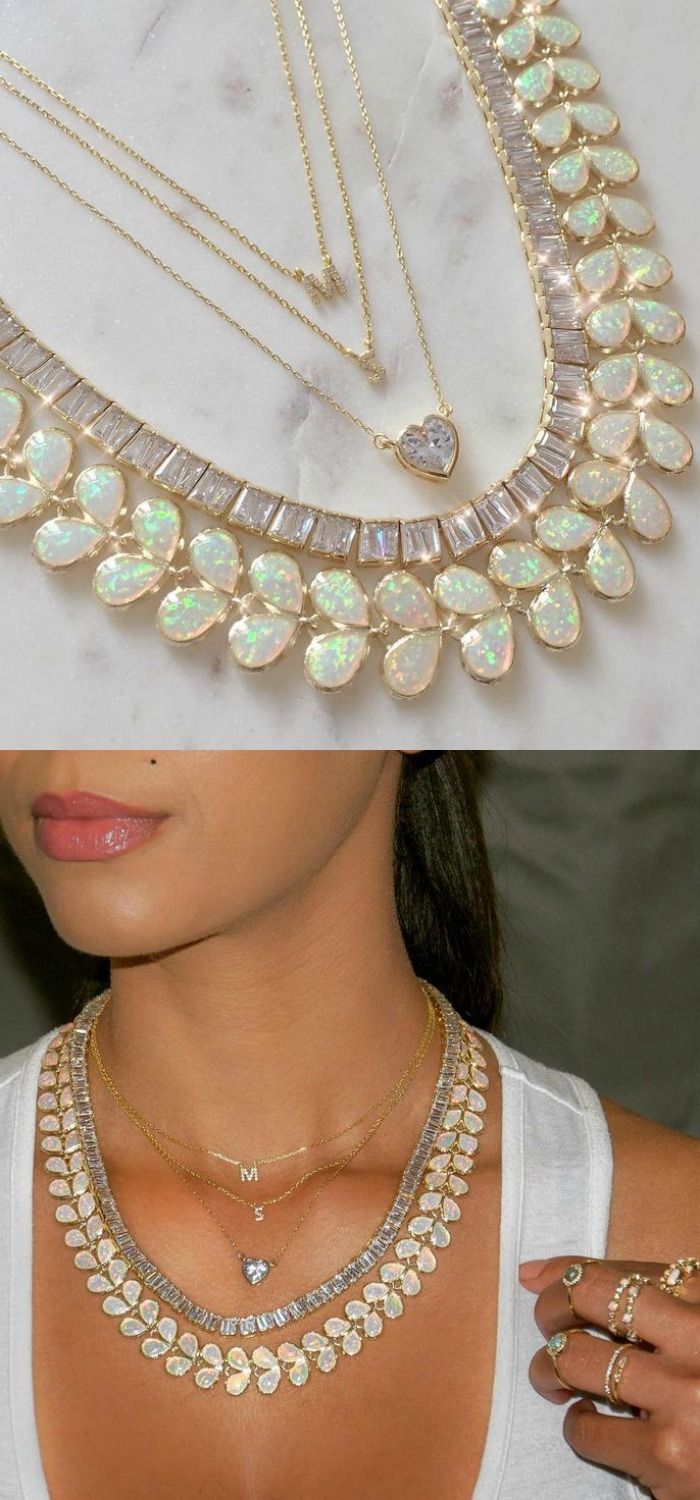 Ulta glamorous necklace layers by Melinda Maria! So chic, and so affordable. Perfect for party season.