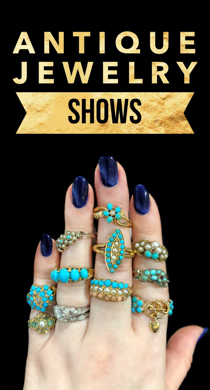 An introduction to antique jewelry shows - everything you need to know to have fun, find deals, and make the most of your first antique jewelry show!