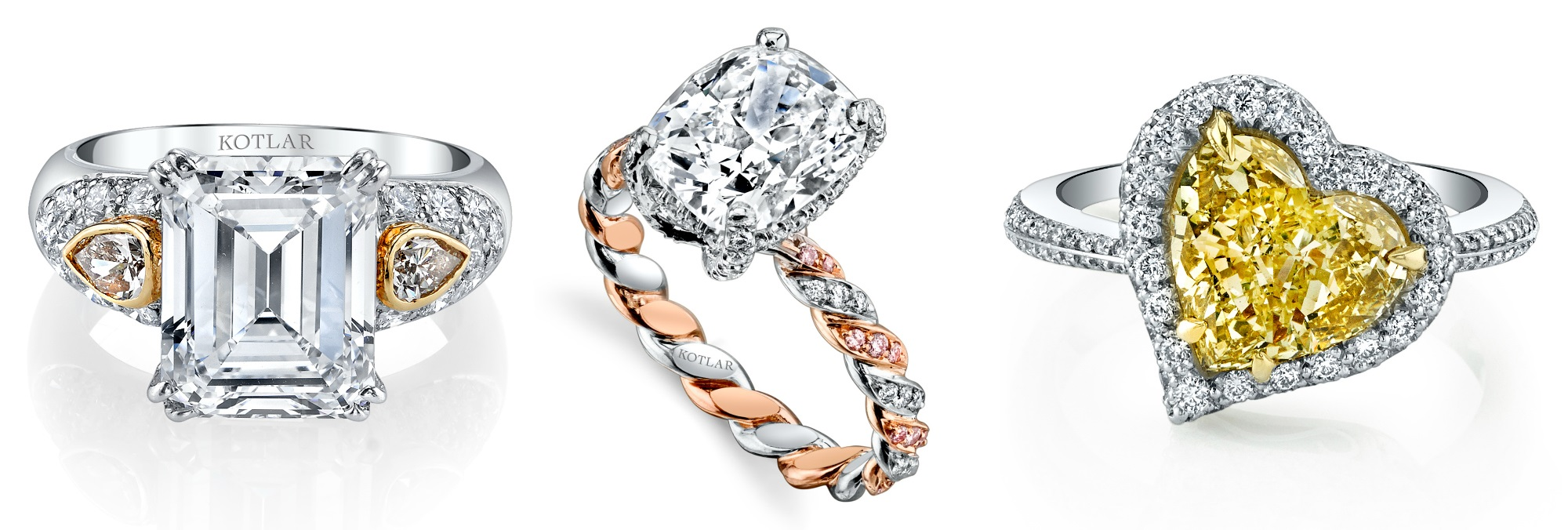 Two beautiful diamond engagement rings! One by Nicole Rose Jewelry, the other by Jade Trau.
