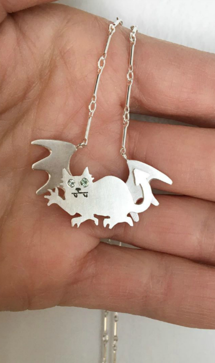 Susan Elnora cat demon necklace