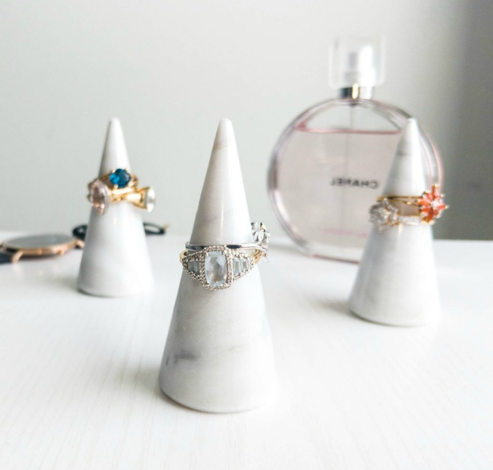 The famous Craft Monkees ring cone is made from genuine Italian Carrara marble.