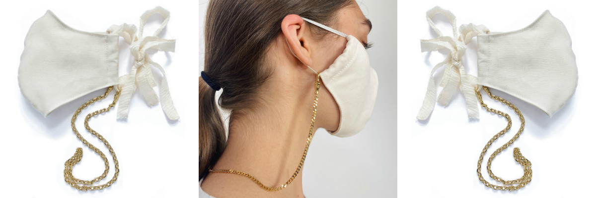 Lady Grey mask chains: jewelry for your mask!
