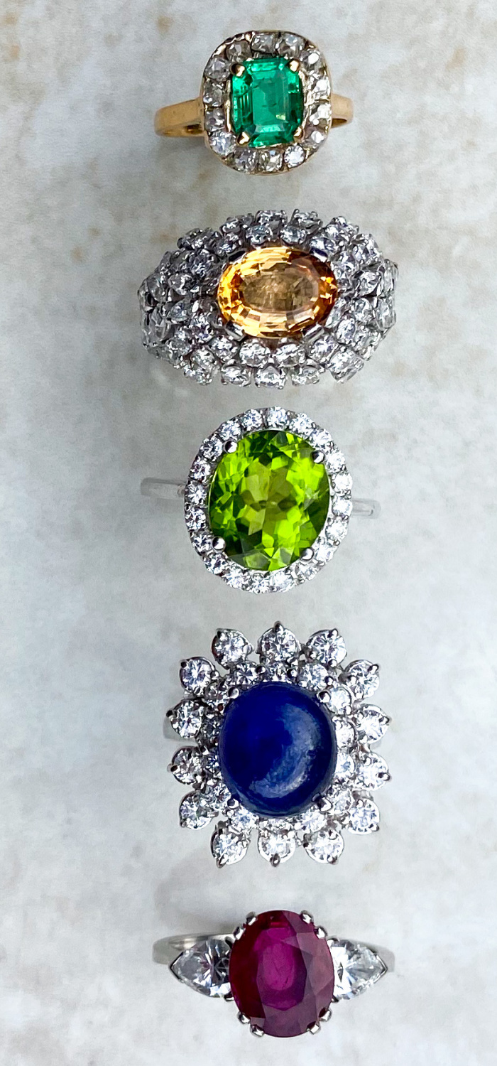 Antique and vintage rings from Audrey & Wolf! Beautiful cocktail rings or stunning right hand statement rings.