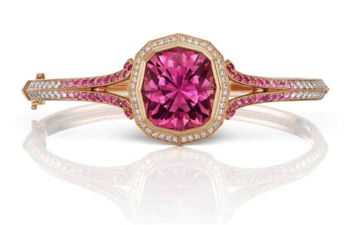 Victoria Bracelet by Alexia Connellan. With pink tourmaline, diamonds, and pink sapphires.