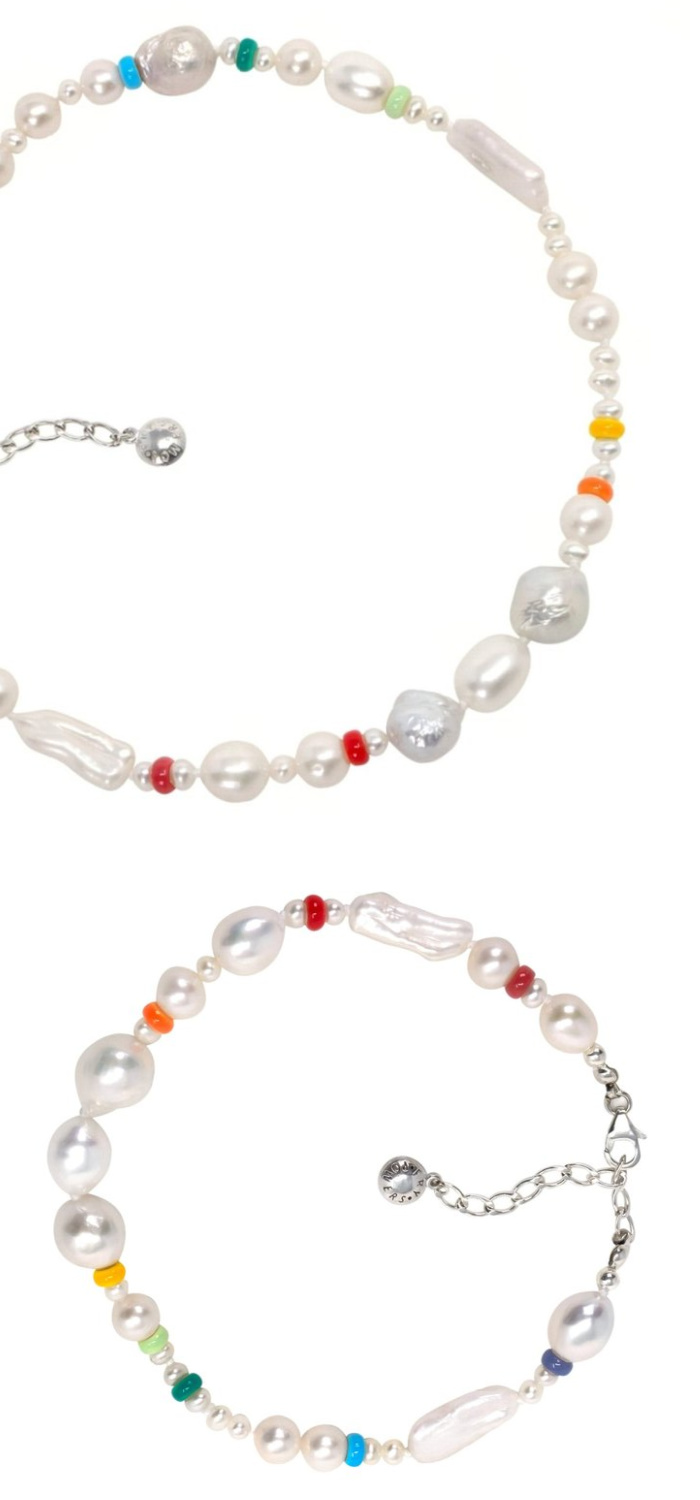 The Coco baroque pearl bracelet by Fry Powers. I love these cheerful rainbow pearls!