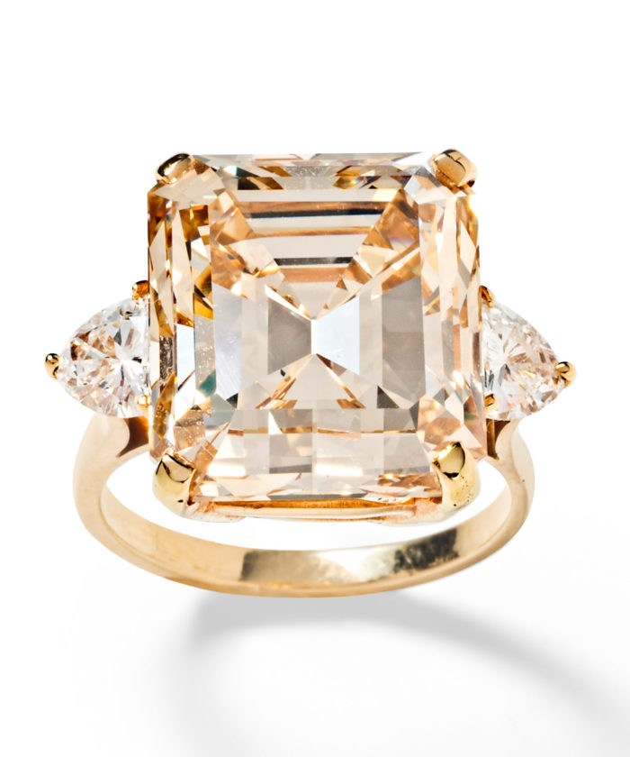 A magnificent 16.77 carat fancy light brown diamond ring from Tiina Smith. Would be a stunning engagement ring!
