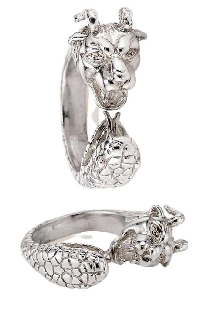 The Chimera ring in silver is from KIL NYC's Teras Collecton, which is inspired by Greek mythology.