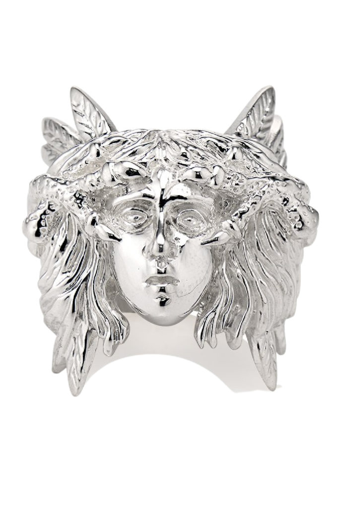 The Harpy ring in silver from KIL NYC's Teras Collecton, which is inspired by monsters from Greek mythology.