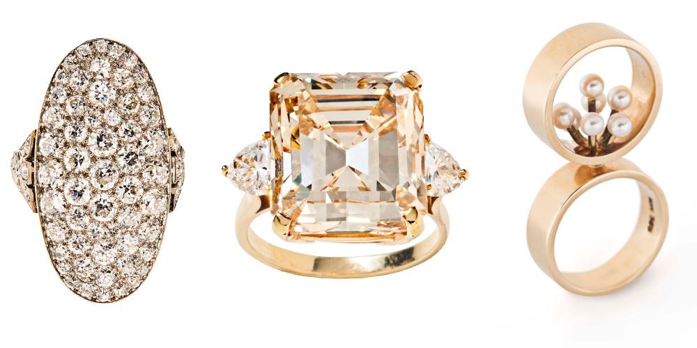 Three extraordinary rings from Tiina Smith.