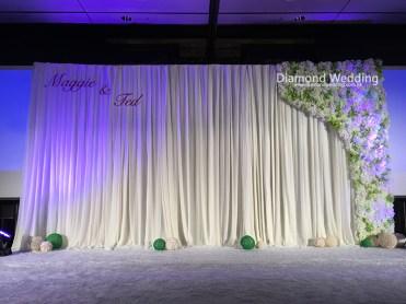 White Florist Backdrop