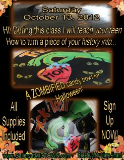 I will be presenting this class at Gallery At Midtown on October 13, 2012 from 1pm til 4pm! Spaces go quick so, sign up before they're all full!