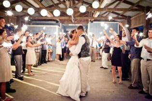 Bride and groom sparkler sendoff (2)