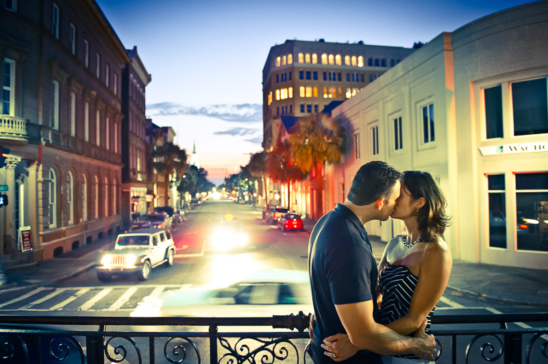 Broad Street at Night Engagement Session