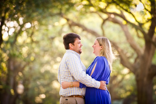 Charleston Battery Oak Trees Engagement Session