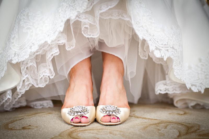 Detail of Brides shoes