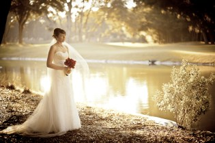Hilton Head Golg Course Wedding Bridal Portrait