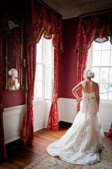 Day of Wedding Bridal Portrait at The William Aiken House