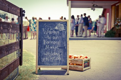 farmers market wedding reception