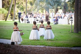 little girls approaching ceremony