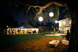 wedding reception at night