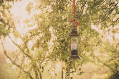 wedding reception lantern detail