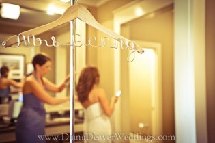 Custom Wedding Dress Hanger wedding photographer Diana Deaver Charleston SC-2