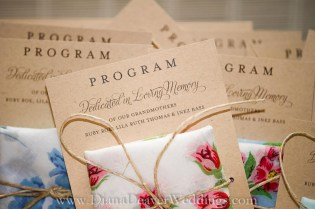 Wedding Program captured by wedding photographer Diana Deaver in Charleston SC-3
