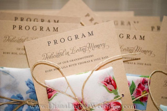 Wedding Program captured by wedding photographer Diana Deaver in Charleston SC-3