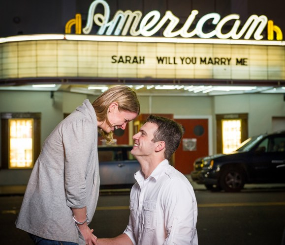 engagement session downtown Charleston SC American Theater-4