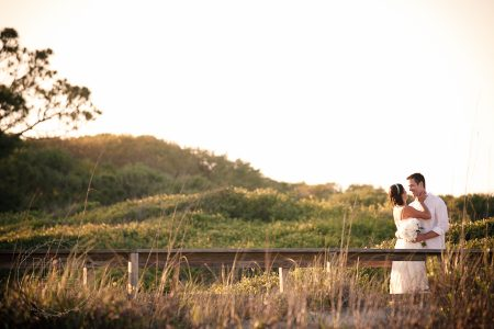 beach wedding boardwalk kiawah sandcastle