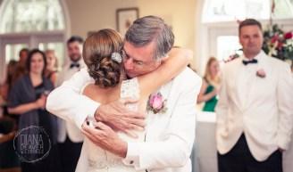 father daughter wedding dance hug