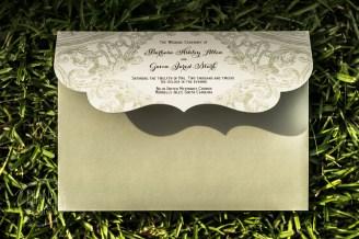 wedding program-envelope