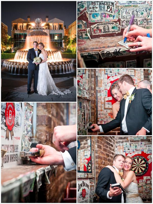 Charleston Pineapple Fountain and The Griffon Wedding Photos