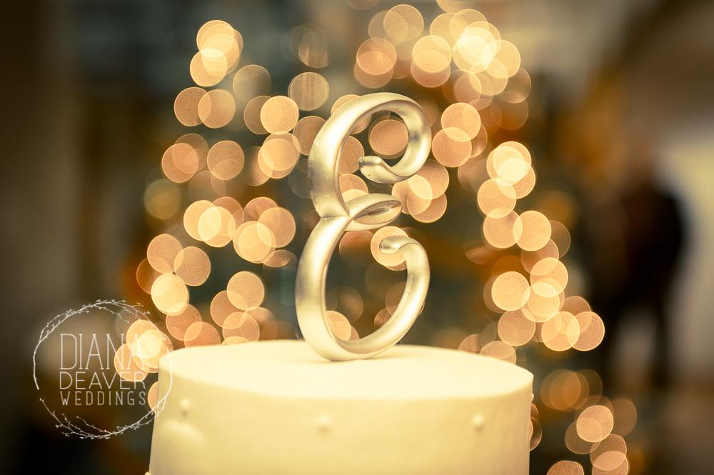Sparkly Wedding Cake Topper