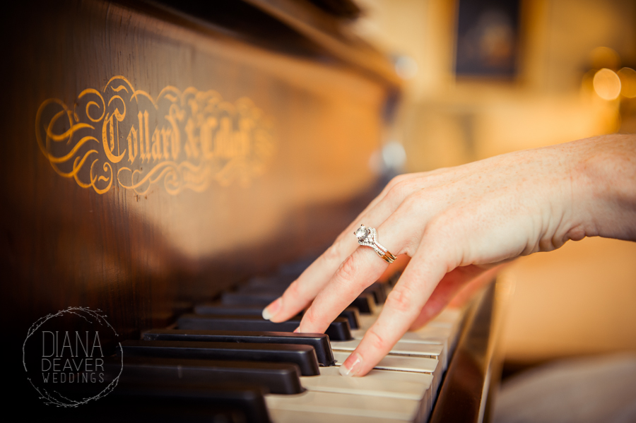 Downtown Charleston Bridal Portrait with a Piano