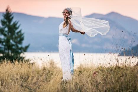 mountain bridal portrait