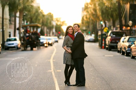 engagement session downtown charleston sc