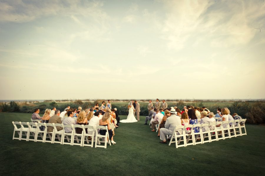 outdoor wedding ceremony kiawah island sc