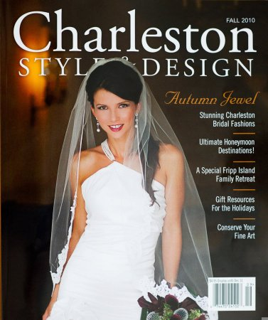 bridal cover of charleston style and design magazine diana deaver editorial photographer