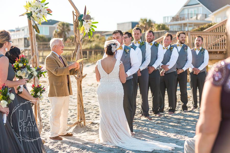 folly beach wedding ceremony
