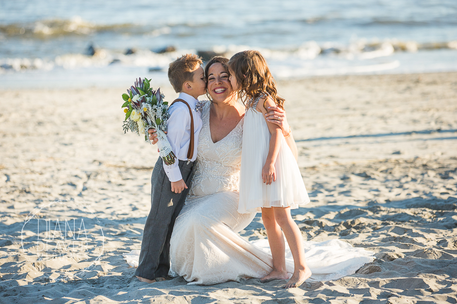 bride and ring bearer and flower girl