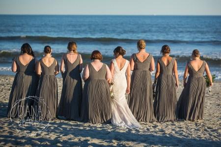 beach wedding grey bridesmaids dresses