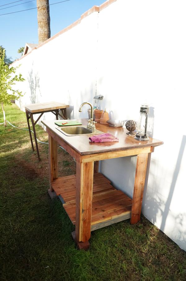 Outdoor Garden Veggie Sink | Diana Elizabeth on Outdoor Patio Sink id=74916