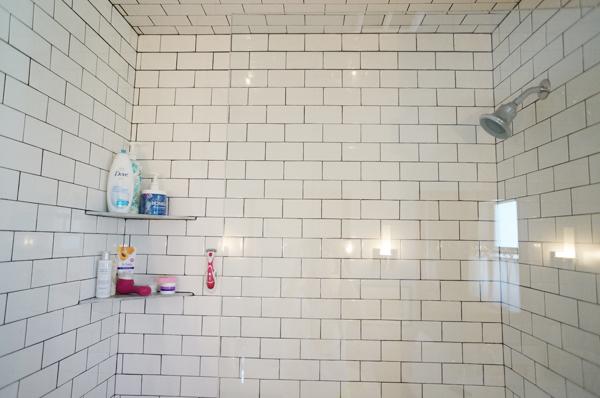 a half glass shower door diana elizabeth