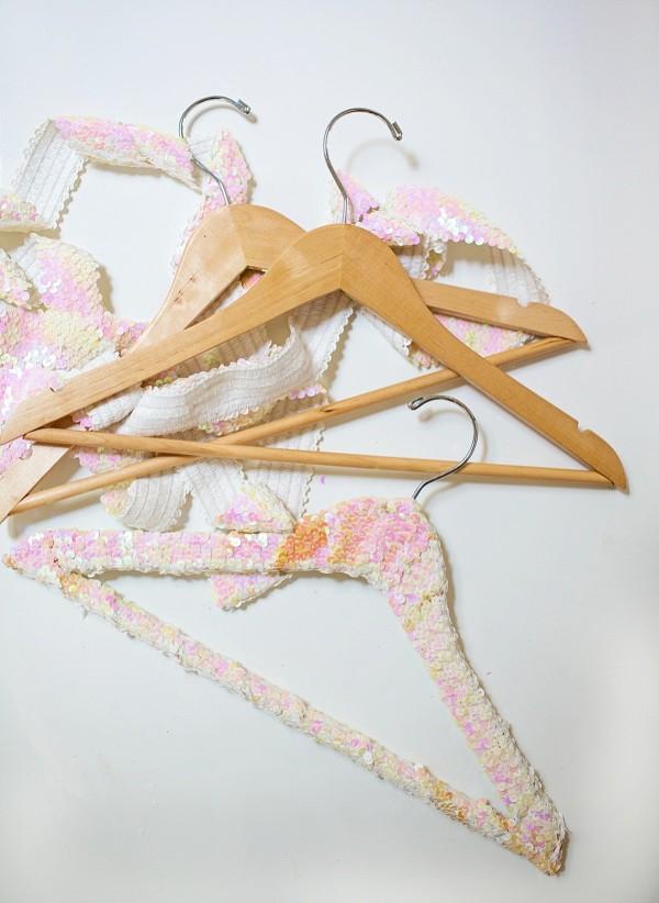 Guest Coat Rack & Sequin Hangers