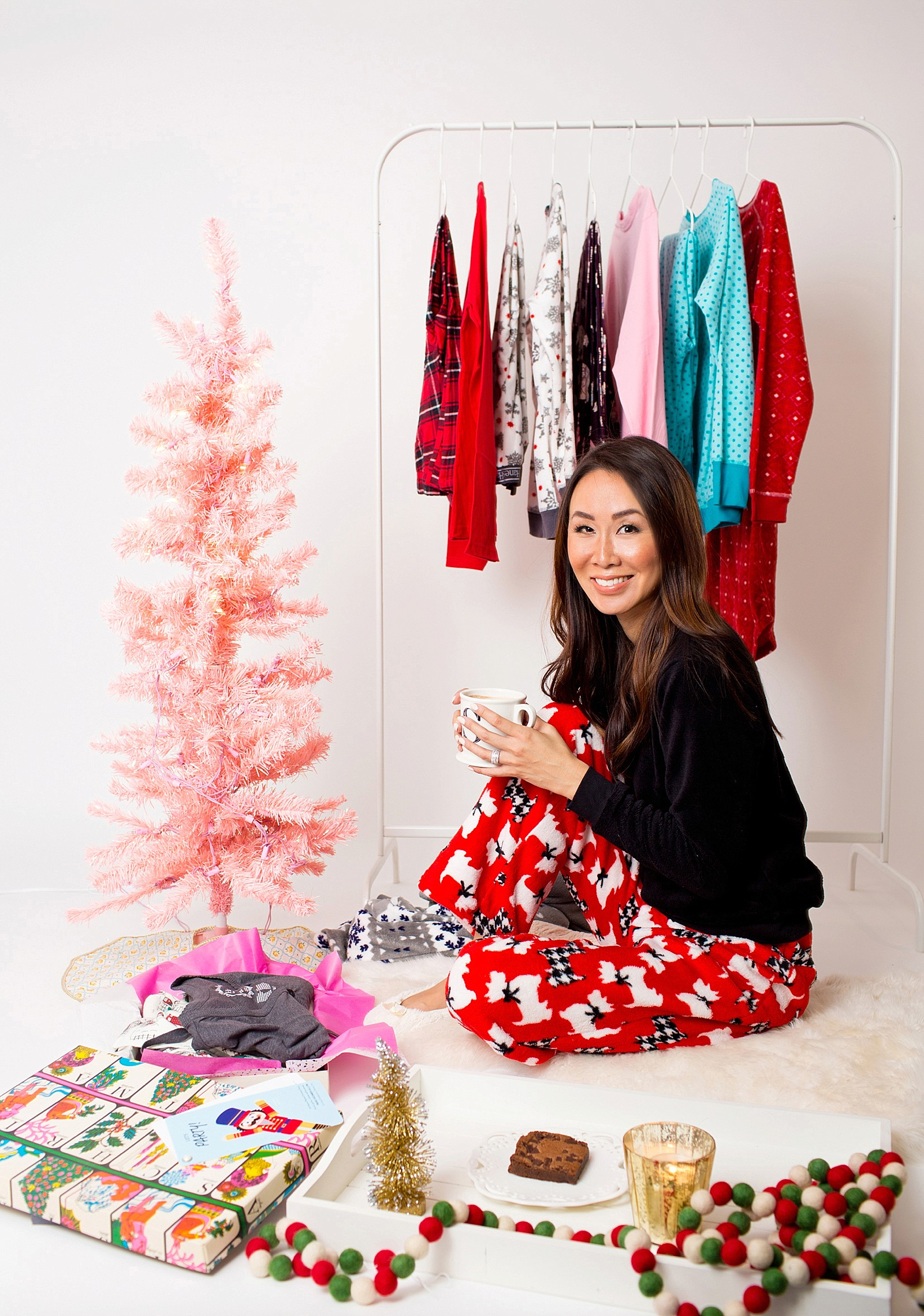 Pajama Christmas Party Ideas Part - 36: Hanes-christmas-pajamas-girls-pajama-party-ideas-cute- ...