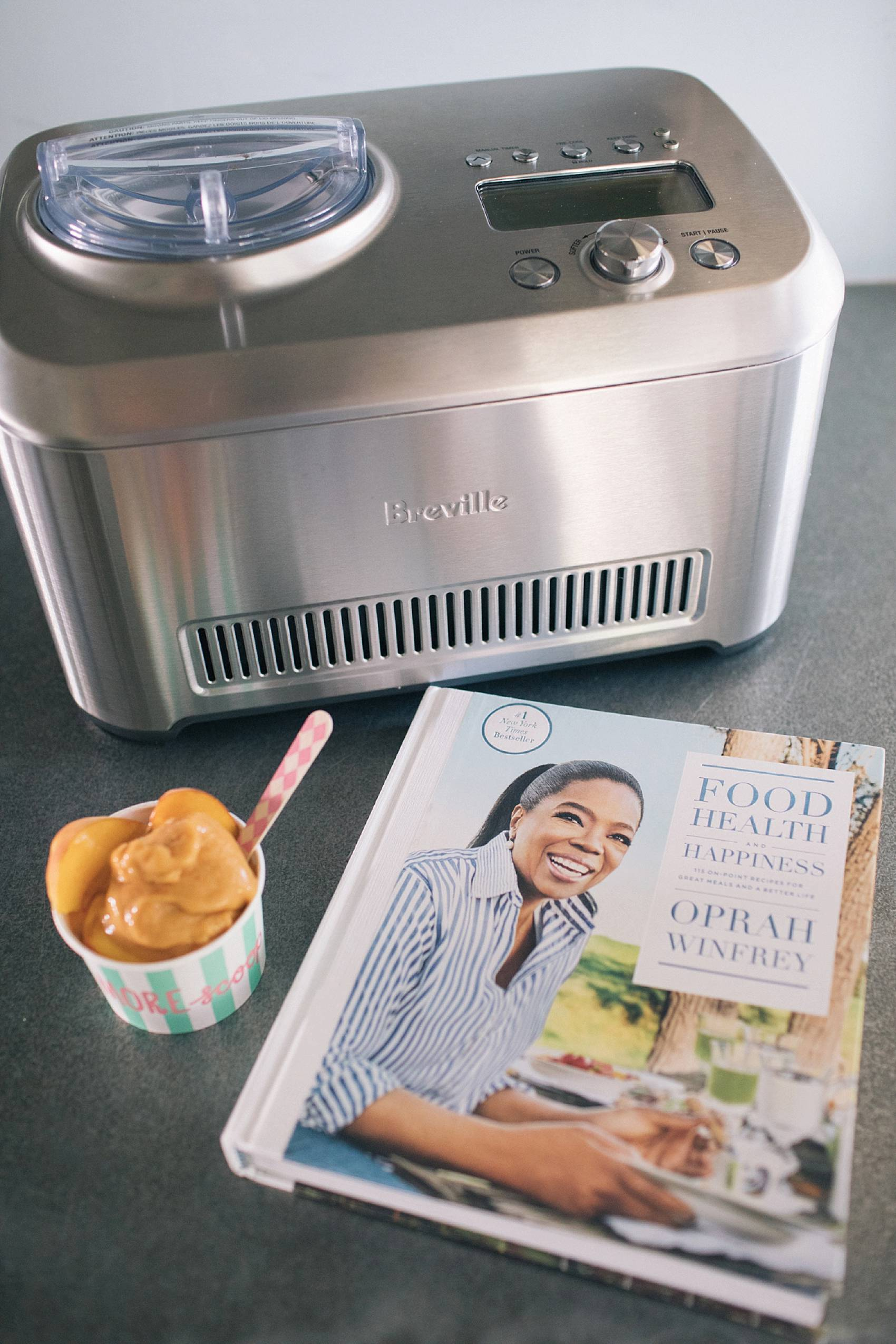 breville smart scoop ice cream maker with Oprah Winfrey cook book
