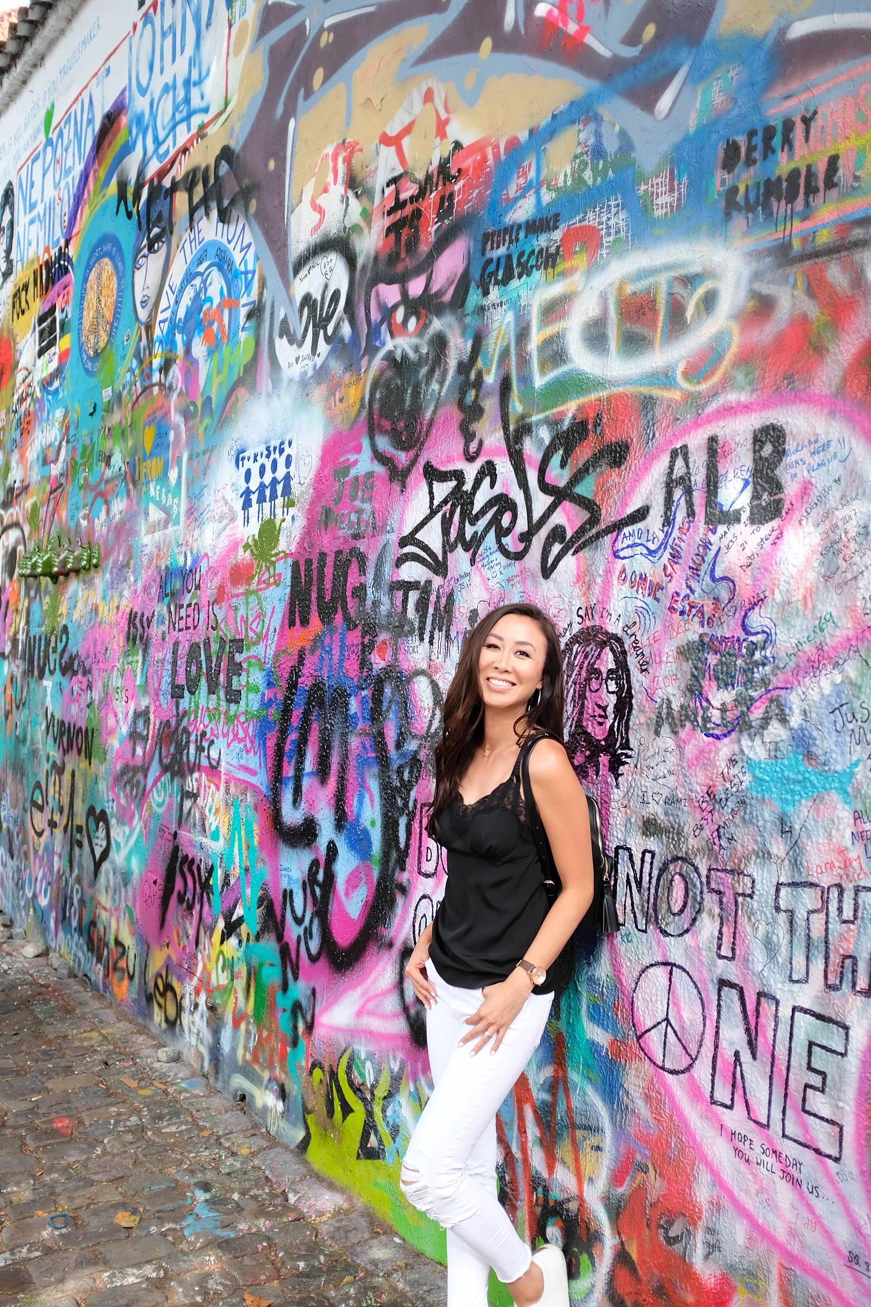 Photo guide to Prague: John Lennon graffiti wall