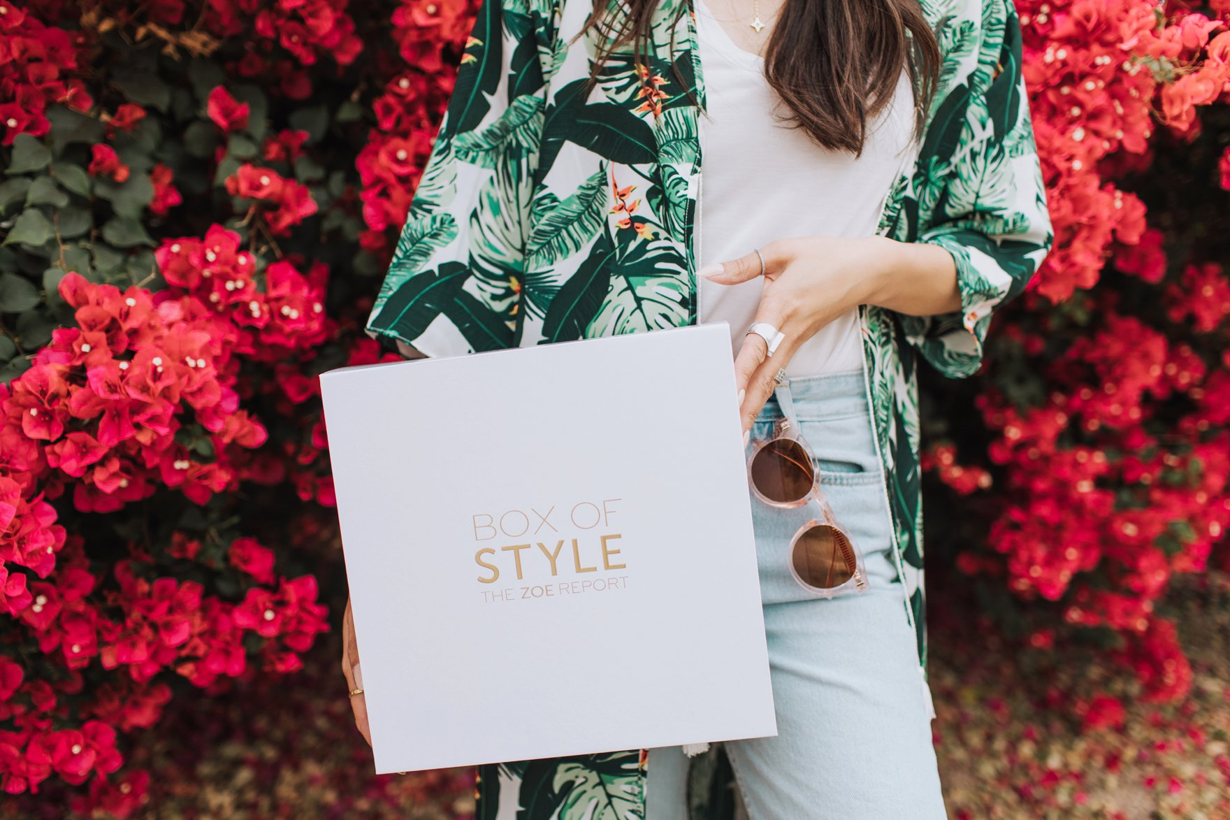 palm print duster from Rachel Zoe Box of Style California Edition spring 2018 box review